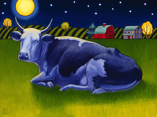 Wall Art - Painting - Mooonlight by Stacey Neumiller