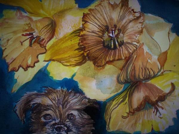 Naughty Dog Wall Art - Painting - Mooooork by Mindy Newman
