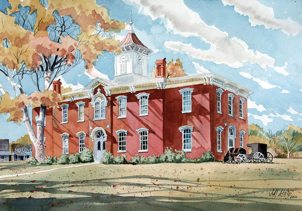 Courthouse Painting - Moore County Courthouse Lynchburg Tn by Jeff Atnip