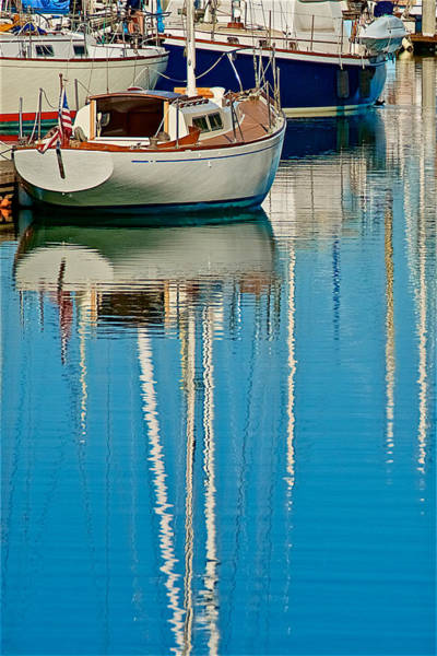 Photograph - Moored Sailboat, Moss Landing, California by Flying Z Photography by Zayne Diamond
