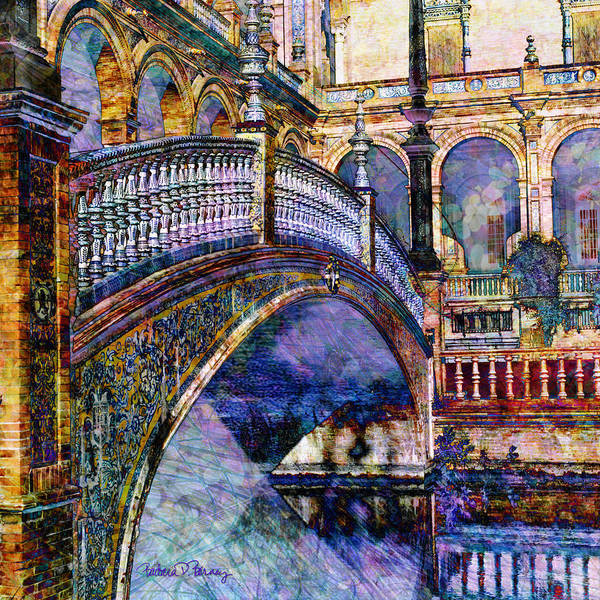 Digital Art - Moorish Bridge by Barbara Berney