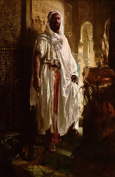 Austrian Painting - Moorish Chief by Eduard Charlemont Austrian
