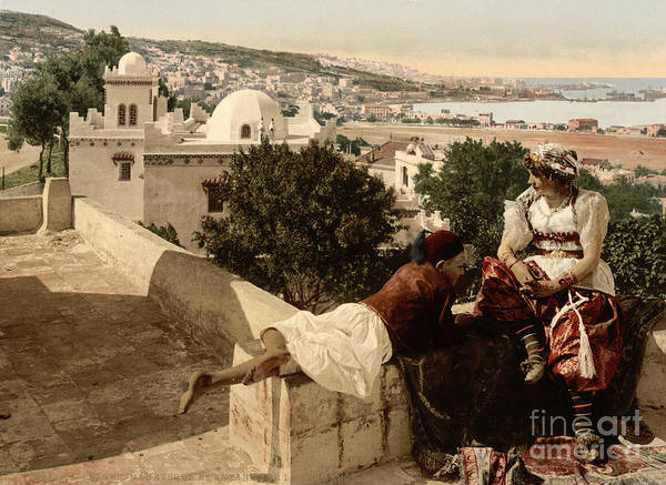 Painting - Moorish Woman And Child On The Terrace by Celestial Images