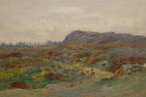 Mixed Media - Moorland Landscape By Thorburn by Archibald Thorburn