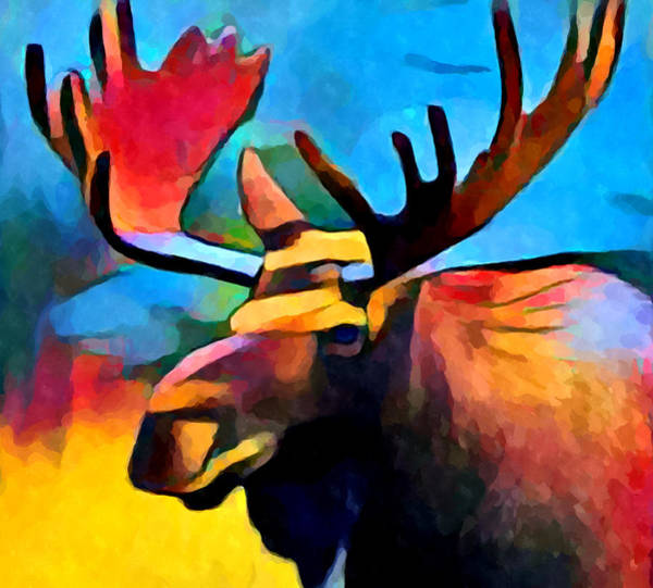 Wall Art - Painting - Moose by Chris Butler