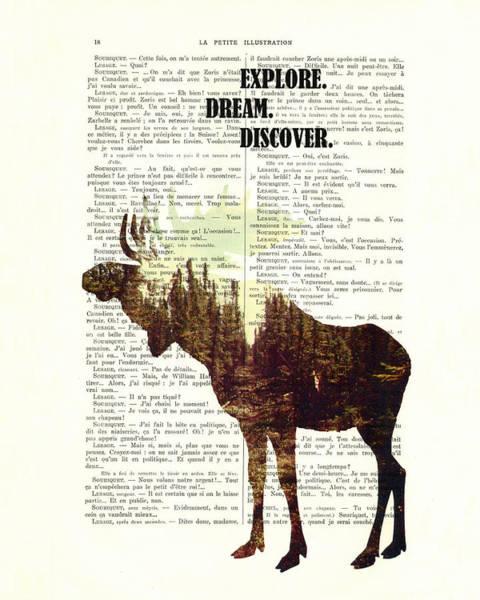 Antlers Digital Art - Moose - Explore Dream Discover - Inspiration by Madame Memento