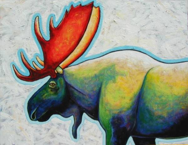 Wall Art - Painting - Moose by Joe  Triano