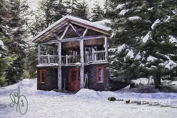 Adirondack Mountains Digital Art - Moose Lake Lodge by David Francey