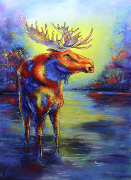 Wall Art - Pastel - Moose by Patricia Lintner