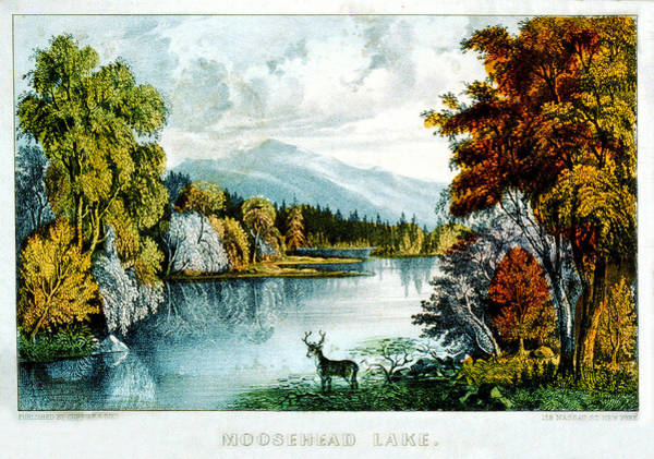Painting - Moosehead Lake by Currier and Ives - Joy of Life Art