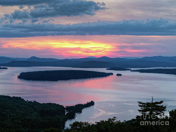 Photograph - Mooselookmeguntic Lake In The Last Light Of Day - Rangeley Me  -63430 by John Bald