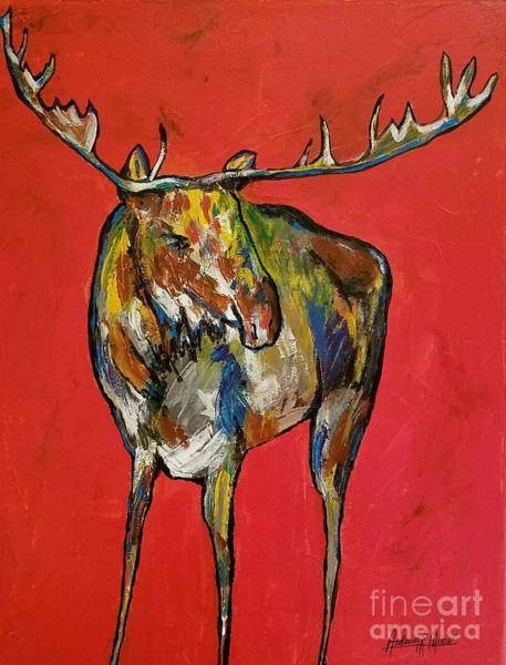 Crazy Mountains Painting - Moozie by Anderson R Moore