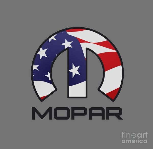 Mopar Wall Art - Digital Art - Mopar Usa by Jerry Dyl