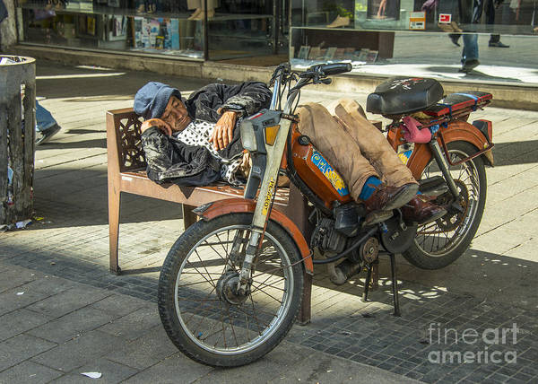 Wall Art - Photograph - Moped Siesta  by Rob Hawkins