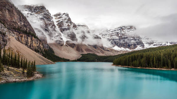 Photograph - Moraine Lake In The Clouds by Pierre Leclerc Photography