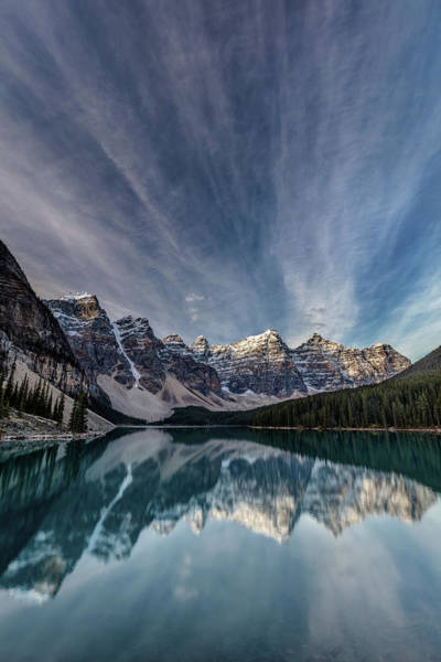 Photograph - Moraine Lake Sky Reflection by Pierre Leclerc Photography