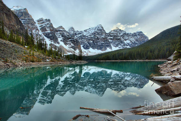 Photograph - Moraine Lake Spring 2018 Sunset by Adam Jewell