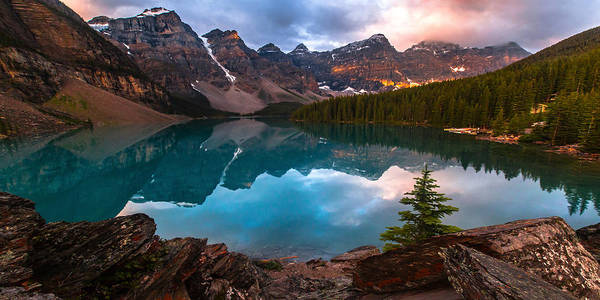 Photograph - Moraine Mornings  Pano  by Ryan Smith