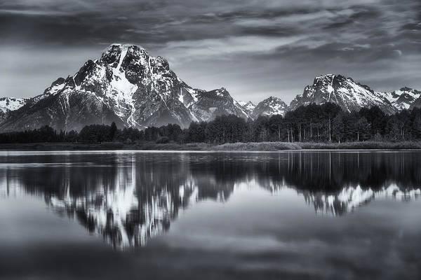 Mount Moran Photograph - Moran In Monochrome by Darren  White