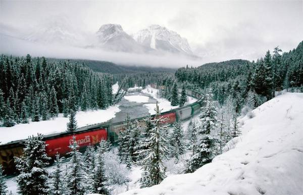 Canadian National Railway Photograph - Morants Curve Alberta by Mark Duffy