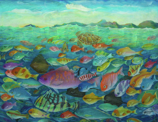 Painting - More Fish by Lynn Bywaters