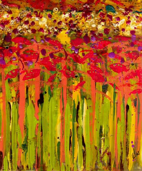 Wall Art - Mixed Media - More Flowers In The Field by Angela L Walker