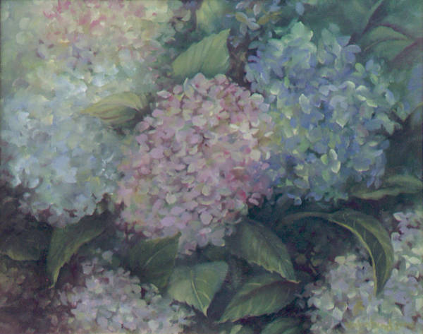 Painting - More Hydrangeas by Suzn Smith
