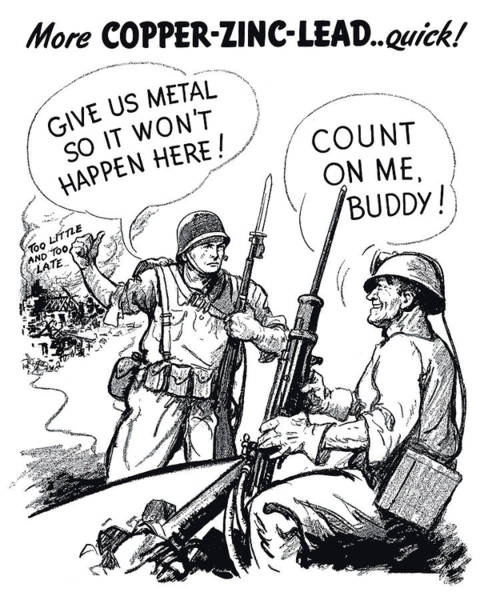 United States Drawing - More Metal Ww2 Cartoon by War Is Hell Store