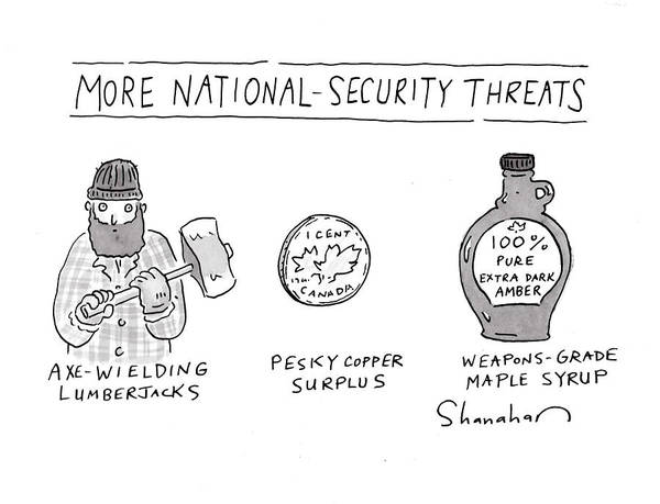 Threat Drawing - More National-security Threats by Danny Shanahan