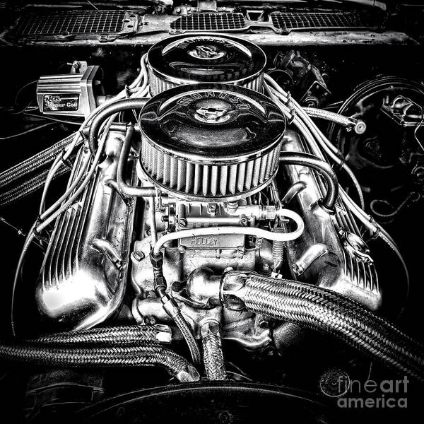 V8 Engine Wall Art - Photograph - More Power by Olivier Le Queinec
