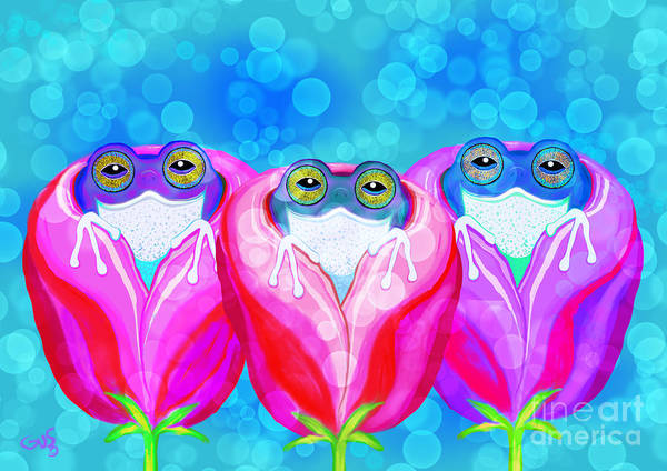 Wall Art - Painting - More Rose City Rain Frogs by Nick Gustafson