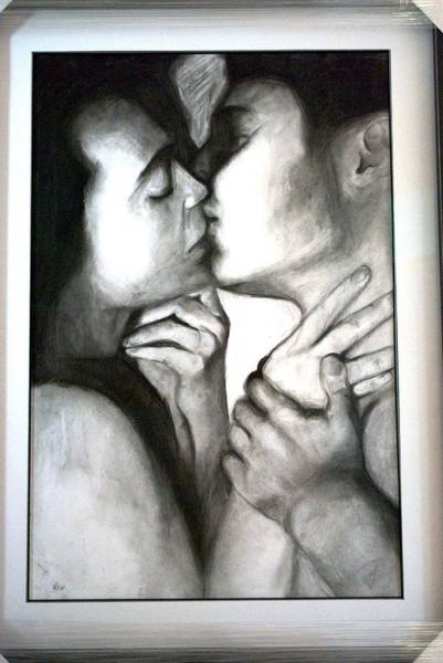 Wall Art - Drawing - More Than A Kiss by Carter Neal