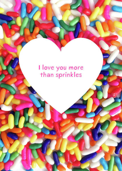 Valentines Digital Art - More Thank Sprinkles- Art By Linda Woods by Linda Woods
