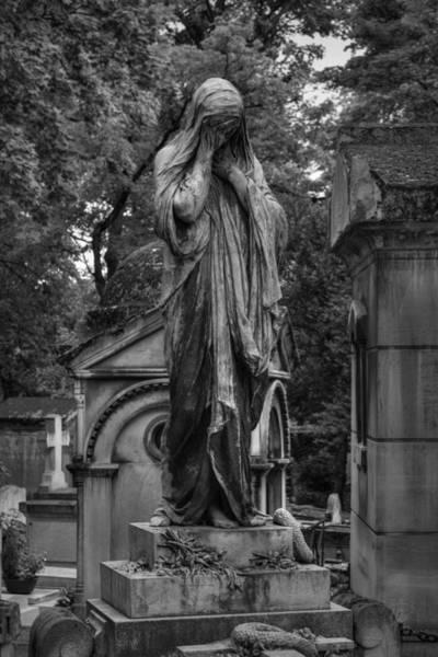 Photograph - Moreau - Vauthier Grave 001 Bw by Lance Vaughn