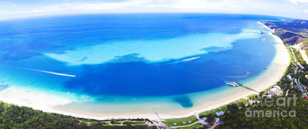 Watersports Photograph - Moreton Island Aerial View by Jorgo Photography - Wall Art Gallery