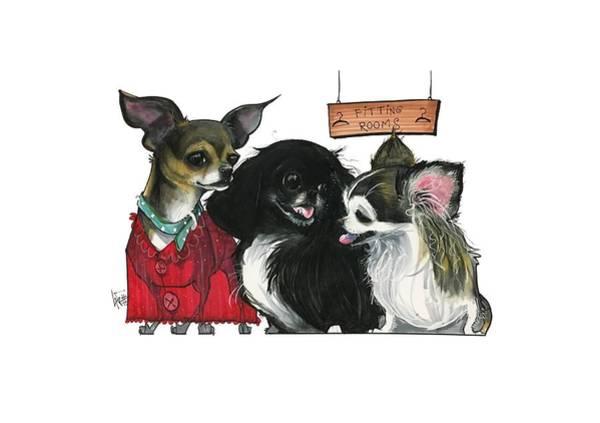 Pet Portrait Drawing - Morgan 3014 by John LaFree