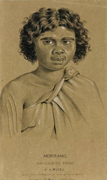 New South Wales Drawing - Morirang. Shoalhaven Tribe. New South Wales  by Charles Rodius
