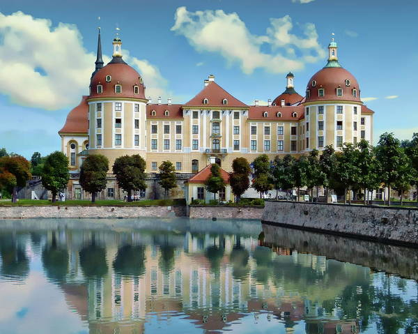 Photograph - Moritzburg Castle by Anthony Dezenzio