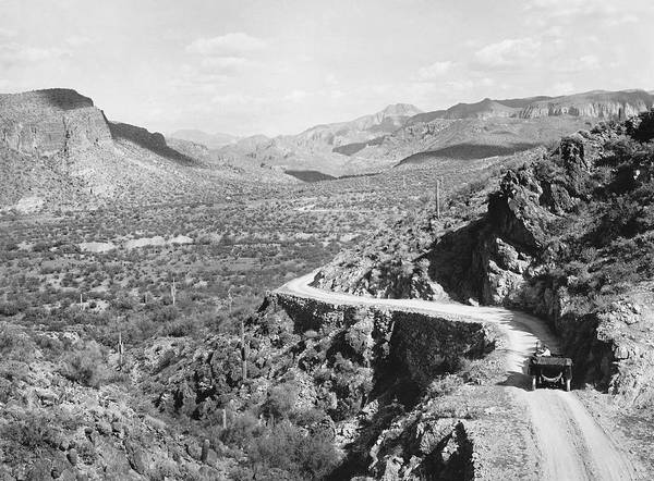 Photograph - Mormon Flat In Arizona by Underwood Archives
