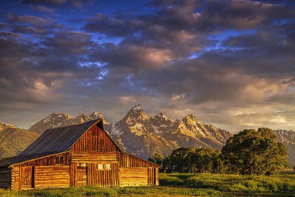 Pioneer Mountains Wall Art - Photograph - Mormon Row Barn by Andrew Soundarajan