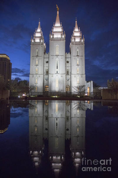 Photograph - Mormon Temple by Jim West