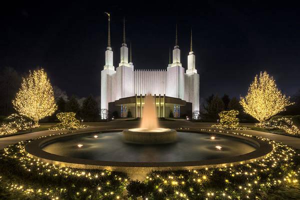Mormon Photograph - Mormon Temple by Robert Fawcett