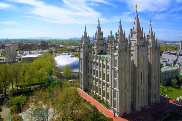 Wall Art - Photograph - Mormon Temple Salt Lake City Ut by Douglas Pulsipher