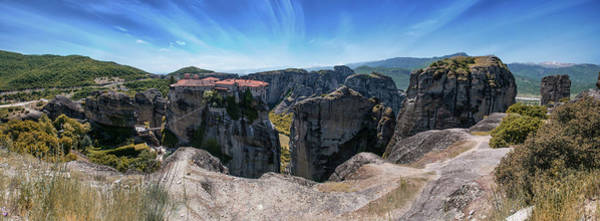 Wall Art - Photograph - Mornin Panorama Of Greek Meteora by Jaroslaw Blaminsky