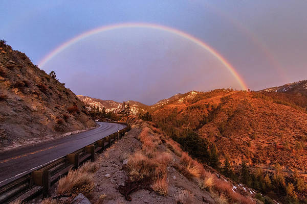 Lightroom Photograph - Morning Alpenglow Rainbow Road by Mike Herron