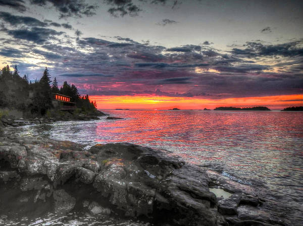 Photograph - Morning Arrives At Isle Royale by Don Mercer