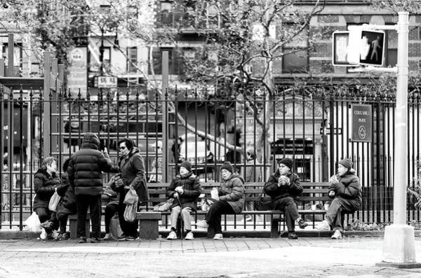 Photograph - Morning At Columbus Park New York City by John Rizzuto