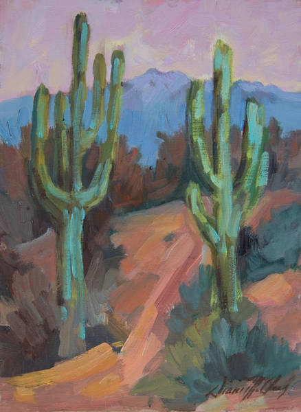 Sonoran Desert Wall Art - Painting - Morning At Fort Apache by Diane McClary