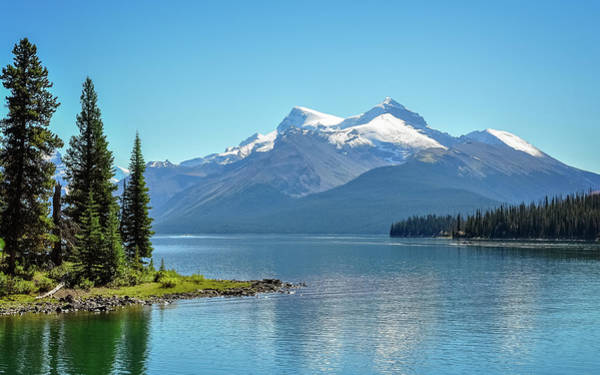 Aspect Wall Art - Photograph - Morning At Lake Maligne, Canada by Daniela Constantinescu