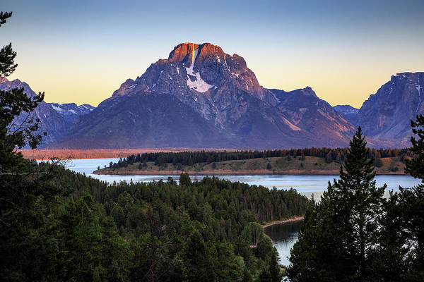 Photograph - Morning At Mt. Moran by David Chandler